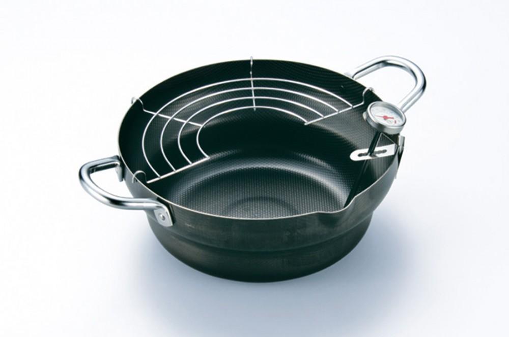 天ぷら鍋24cm 温度計付