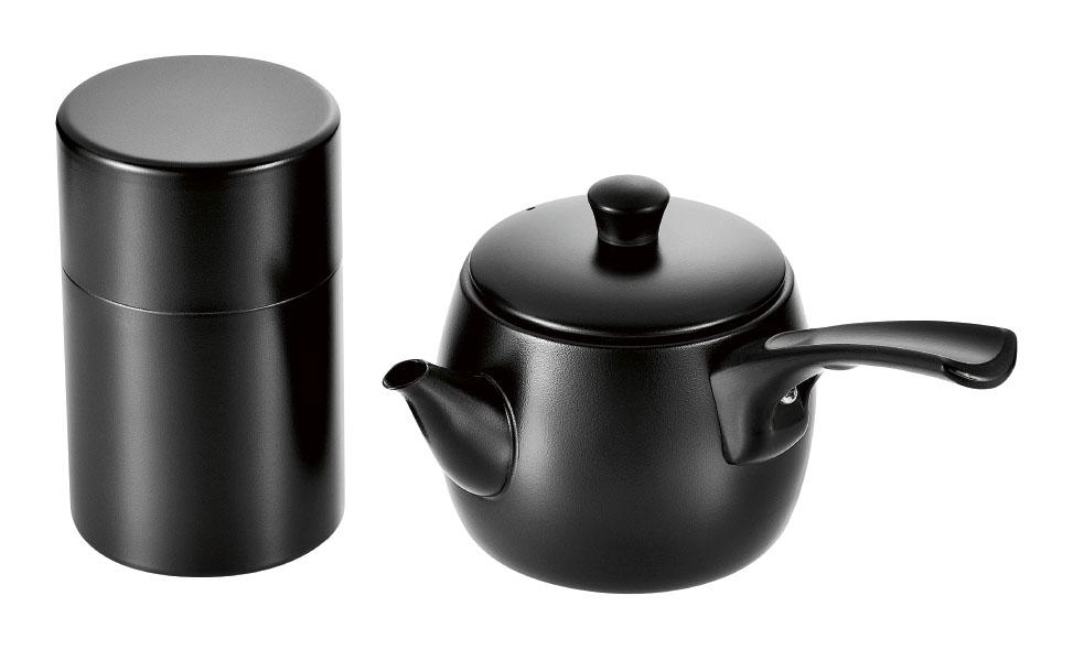 急須&茶筒(ブラック仕上げ)